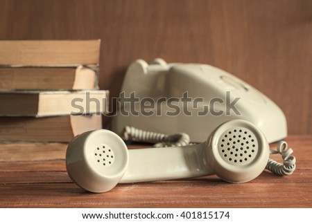 Vintage old-fashioned phone - stock photo