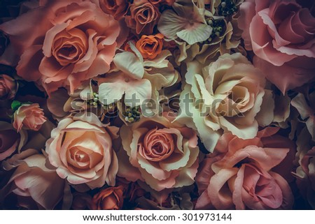 Vintage old flower backgrounds - vintage effect style pictures - stock photo