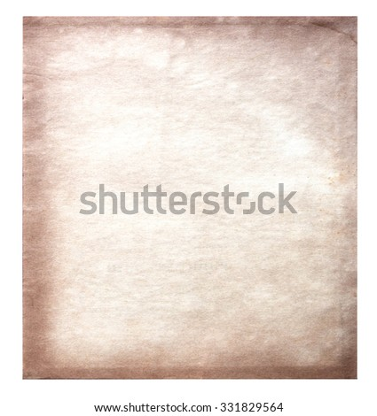 Vintage Old paper isolated on white background - stock photo