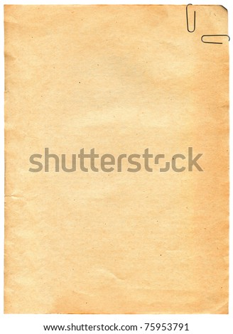 Vintage old paper texture with clip to background - stock photo