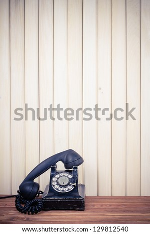 Vintage old telephone - stock photo