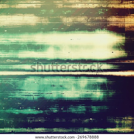Vintage old texture for background. With different color patterns: blue; cyan; brown; green - stock photo