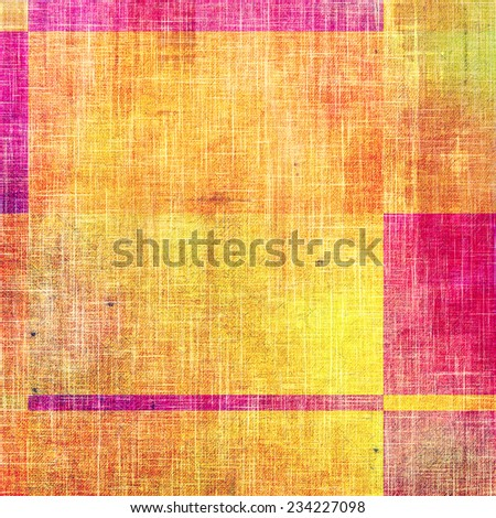 Vintage old texture for background. With different color patterns: orange; yellow; red; pink orange; yellow; red; pink - stock photo