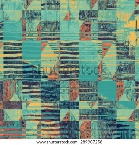 Vintage old texture for creative retro background. With different color patterns: yellow (beige); blue; red (orange); cyan