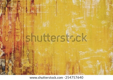Vintage old texture with space for text or image, distressed grunge background. With different color patterns: yellow (beige); brown; red (orange) - stock photo