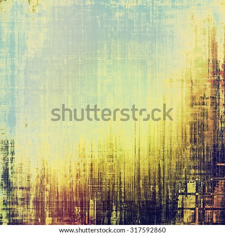 Vintage old texture with space for text or image, distressed grunge background. With different color patterns: yellow (beige); brown; blue; purple (violet) - stock photo
