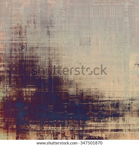 Vintage old texture with space for text or image, distressed grunge background. With different color patterns: brown; gray; blue; purple (violet) - stock photo