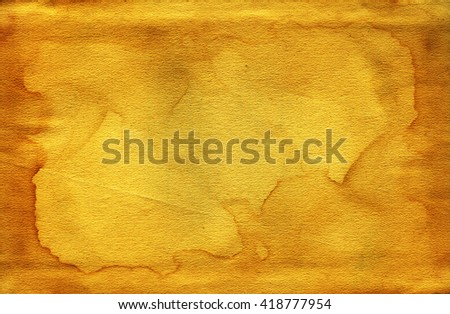 Vintage old worn paper blank background. Closeup - stock photo