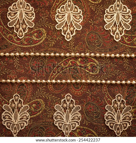 Vintage paisley background