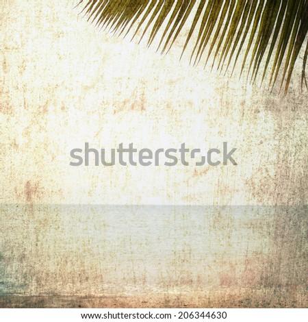 vintage palm concept - stock photo