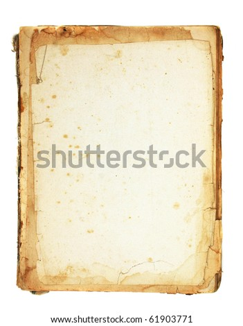 vintage paper background isolated on white - stock photo