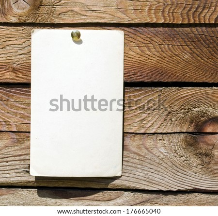 Vintage paper on wood  - stock photo