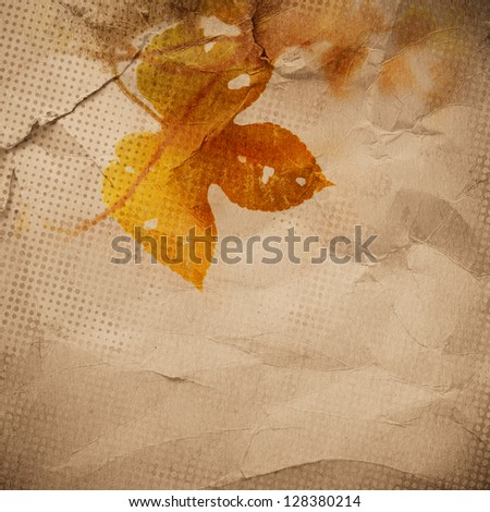 vintage paper texture, nature leaves background