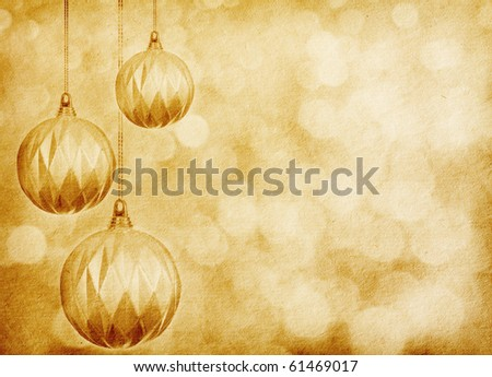 vintage  paper textures.Christmas ball . background with space for text or image. - stock photo