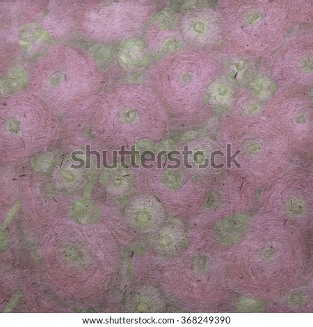 Vintage paper textures with pink persian buttercup flowers (ranunculus) - stock photo