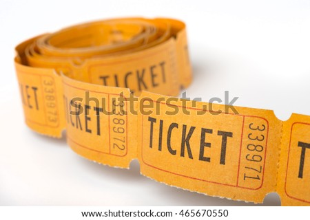 Vintage paper tickets, each one numbered