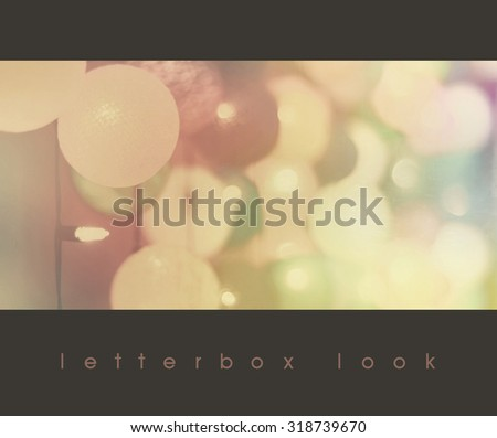 Vintage party night with a light ball, letter box - stock photo