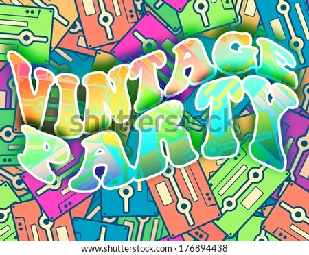 Vintage party retro concept. Pop art poster design - stock photo