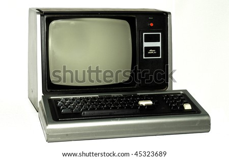 vintage PC from 1980 - stock photo