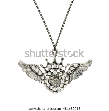 Vintage pendant isolated on white background