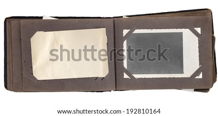 Vintage photo album isolated with clipping path on white background