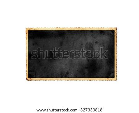Vintage photo frame. Blackboard - stock photo