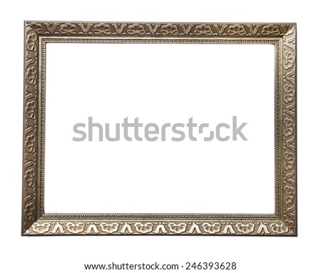 Vintage photo frame isolated on white - stock photo