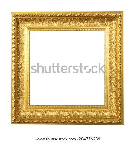 vintage photo gold frame retro frame collection painting edge picture exhibit art antique golden large masters