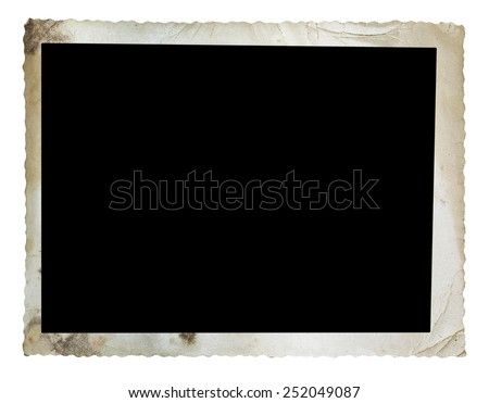 Vintage photo isolated on white background with clipping path