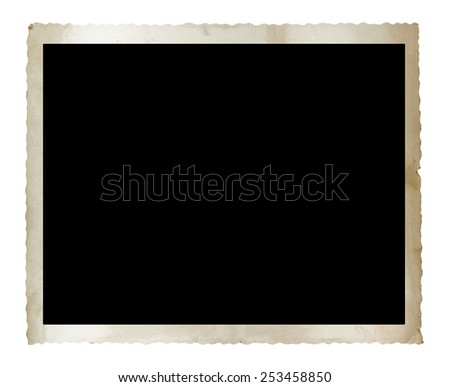 Vintage photo isolated on white background with clipping path - stock photo