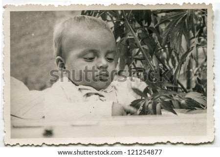 Vintage photo of baby boy (forties)