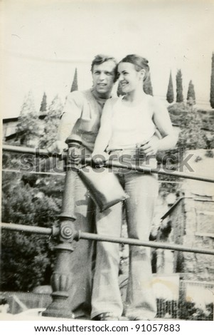 Vintage photo of couple (early seventies)