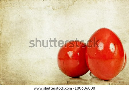 Vintage photo of Easter eggs  - stock photo