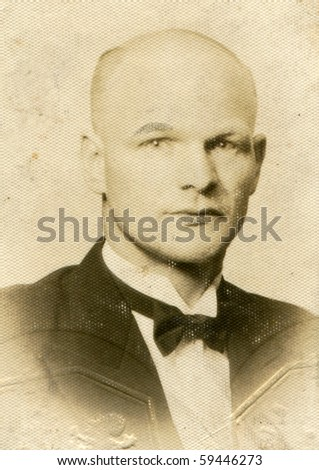 Vintage photo of man - stock photo