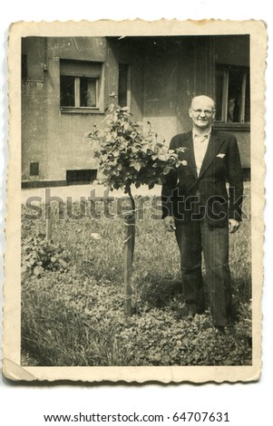 Vintage photo of man