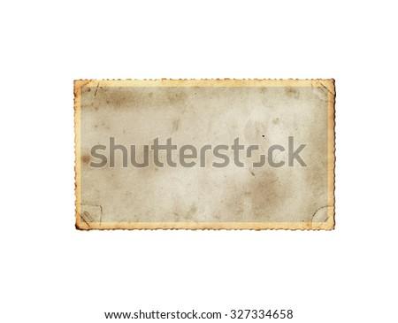 Vintage photo paper. Vintage paper background - stock photo