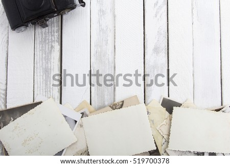 vintage photo rustic wooden background