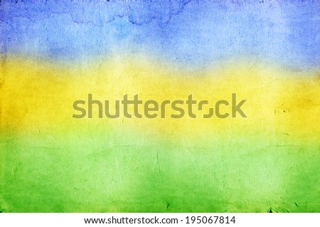 Vintage photo with the colors of the Brazil flag - stock photo