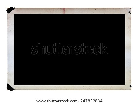 vintage photograph isolated on white background with clipping path - stock photo