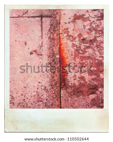Vintage photos instant photo abstract rusty colored background - stock photo