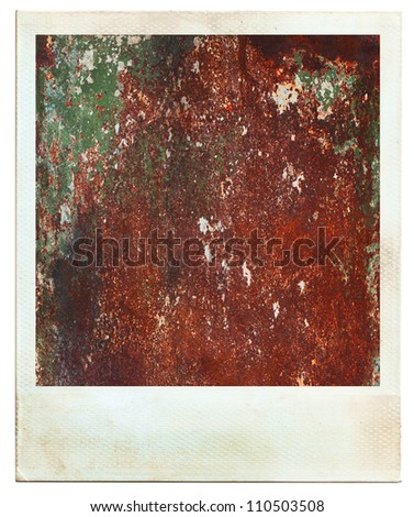 Vintage photos, instant photo abstract rusty colored background - stock photo
