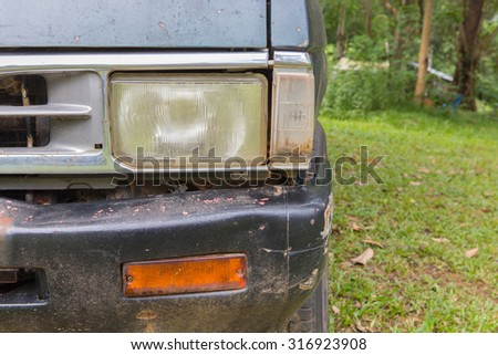 Vintage Pickup Headlight made in japan. - stock photo