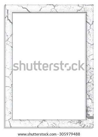 Vintage picture frame on white background