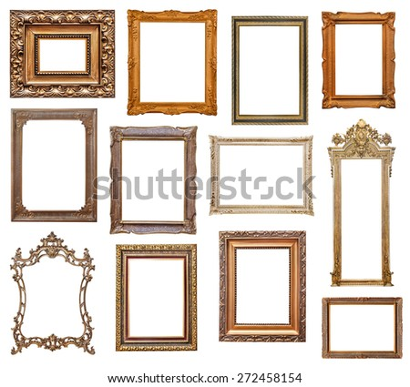 Vintage picture frames - stock photo