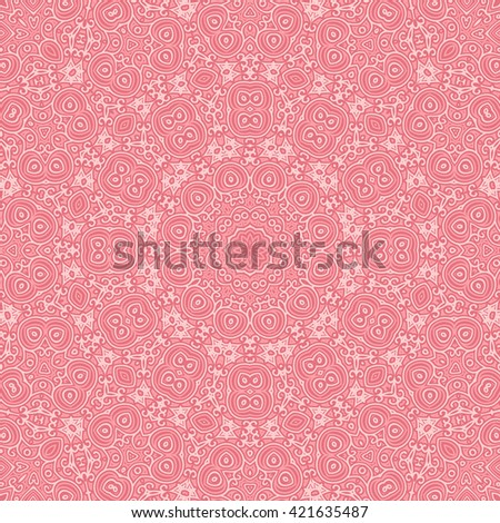Vintage pink cover. Old lace pattern from ornamental elements. Can be used for wallpaper, pattern fills, web page background,surface textures.
