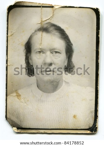 Vintage portrait of mature woman (about forties)