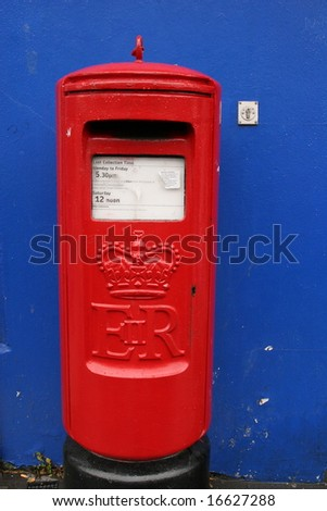 Vintage post-box in Derry, Northern Ireland, UK - stock photo