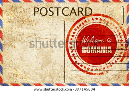 Vintage postcard welcome montana stock illustration 397145830 vintage postcard greetings from romania m4hsunfo