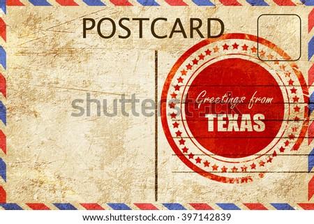 Vintage postcard greetings texas stock illustration 397142839 vintage postcard greetings from texas m4hsunfo