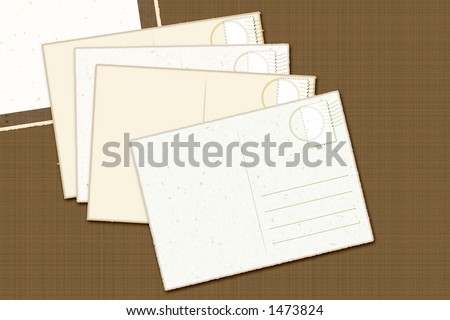Vintage Postcards for easy use - stock photo